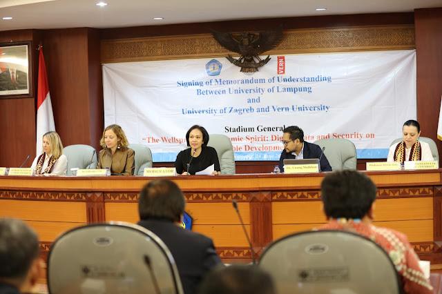 Pemprov Lampung Diminta Dukung Penuh Kerjasama Unila dengan 2 Universitas dari Kroasia