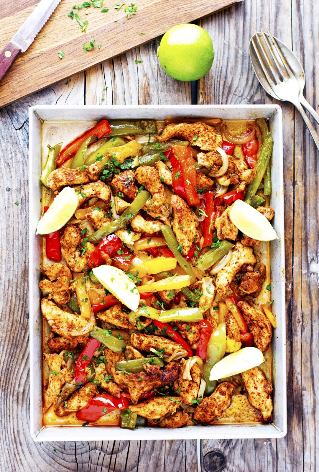 Sheet Pan Spicy Chicken Fajitas