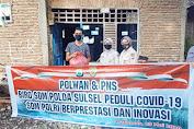 Peduli Dampak Covid-19, Polwan dan PNS Biro SDM Polda Sulsel Beri Bantuan pada Warga