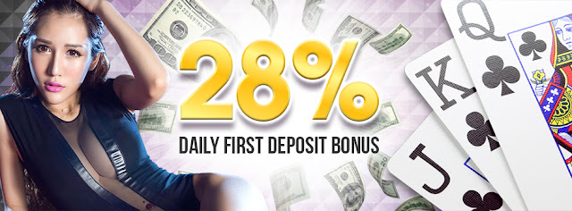 28% Daily First Deposit Bonus