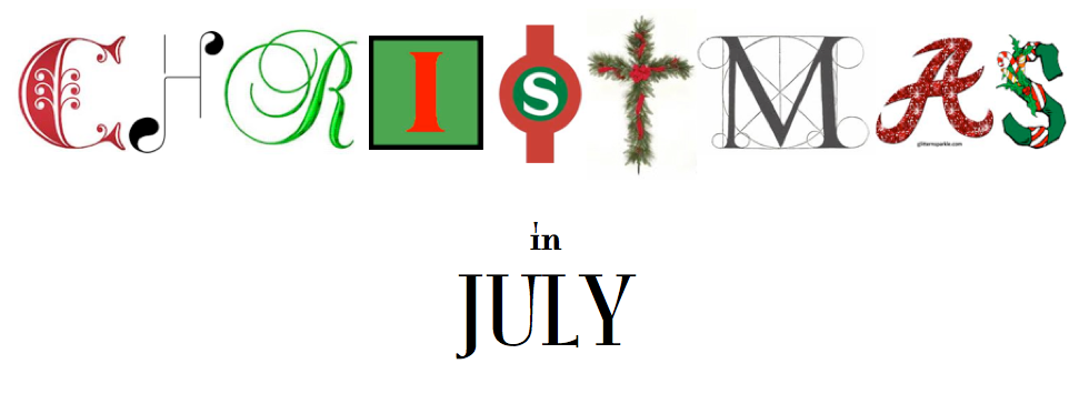 Christmas In July Party Clipart.A Party Style Xmas In July Holiday Cards