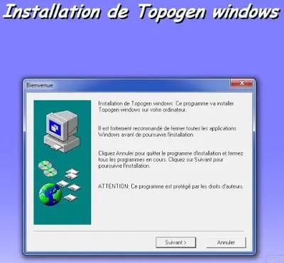 installation topogen, crack topogen, calcul topographie, logiciel topogen, installer topogen, telecharger topogen,