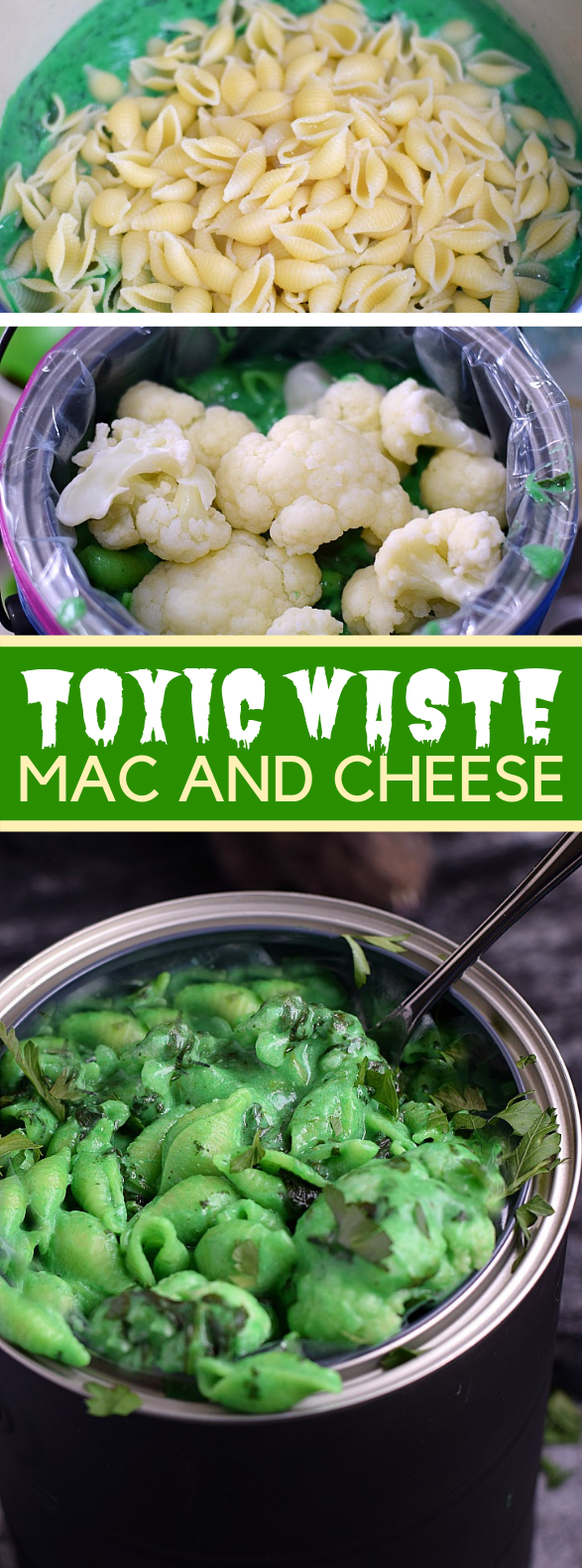 TOXIC WASTE MAC AND CHEESE #vegetarian #halloween