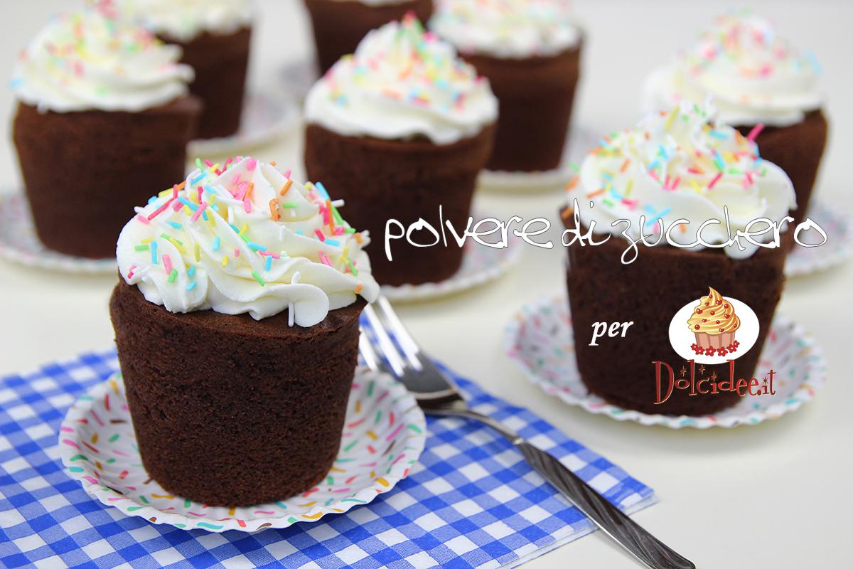 mini cake al cioccolato frosting cheese cream ricetta tutorial polvere di zucchero