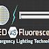 LED Vs Fluorescent Emergency Lighting Technology #infographic