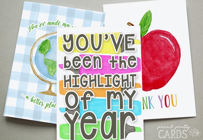 Teacher Cards to Print