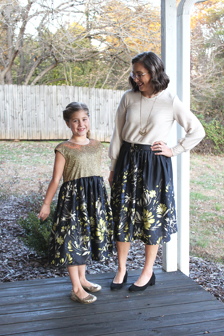 Mommy + Me Holiday Outfits // Cleo Skirt + Caroline Party Dress