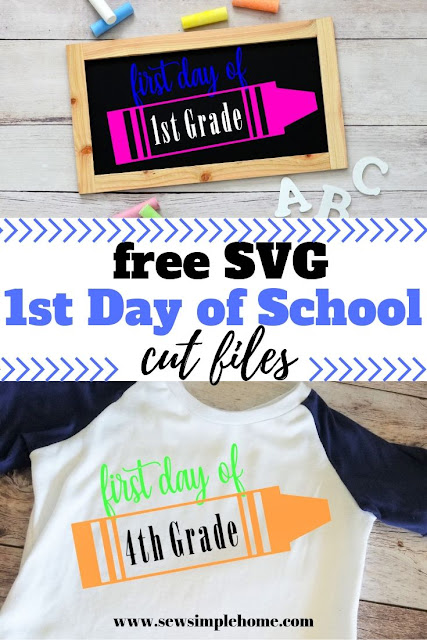 Keep those school memories with this free first day of school svg and png cut files.