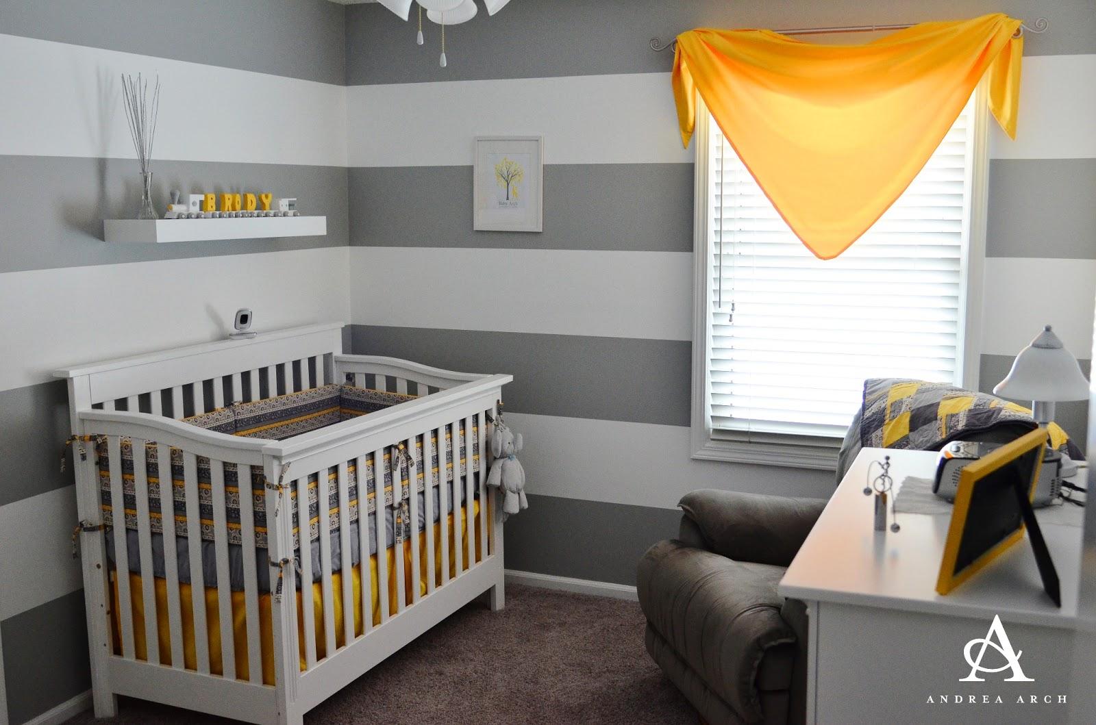 Yellow Grey Gender Neutral Nursery