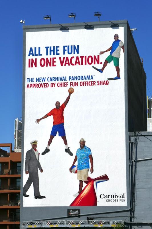 Carnival Panorama Cruise Shaq billboard
