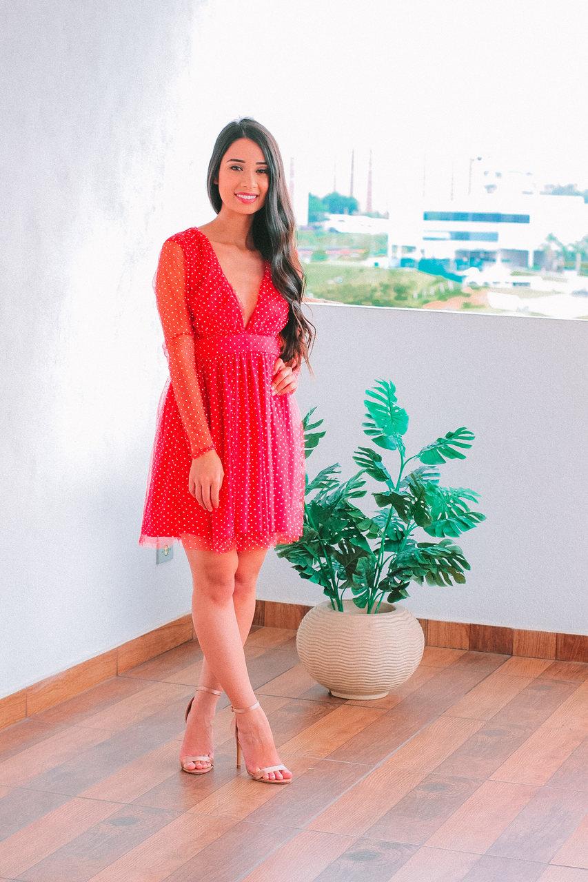 Vestido vermelho shein