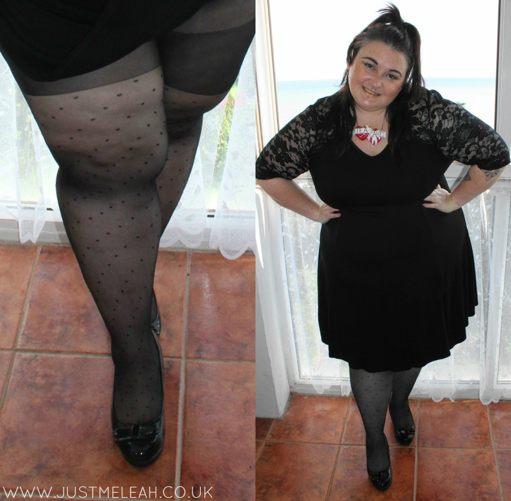 Charnos XeLence polka dot plus size tights