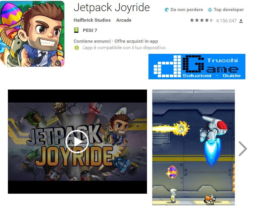 Trucchi Jetpack Joyride Mod Apk Android v1.9.24