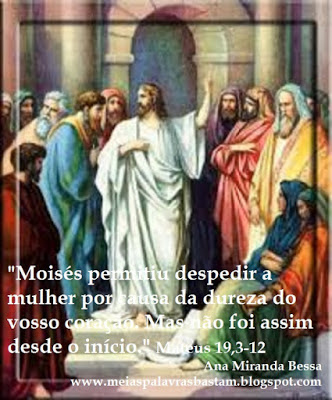 Palavra De Deus O Repúdio Da Mulher Não Casar Se Por Causa Do Reino Mateus 19 3 12 Reflexão Diária