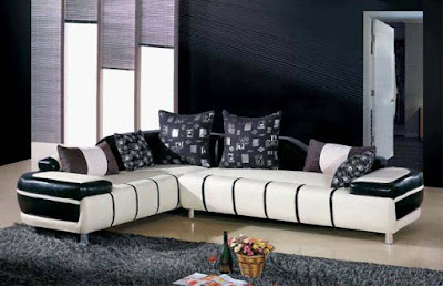 black and white sofa set designs for modern living room interiors (3)