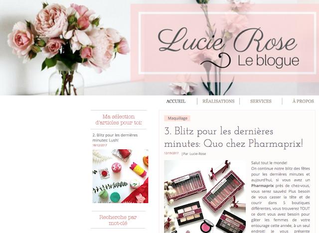 Lucie-Rose blogue blog québécois