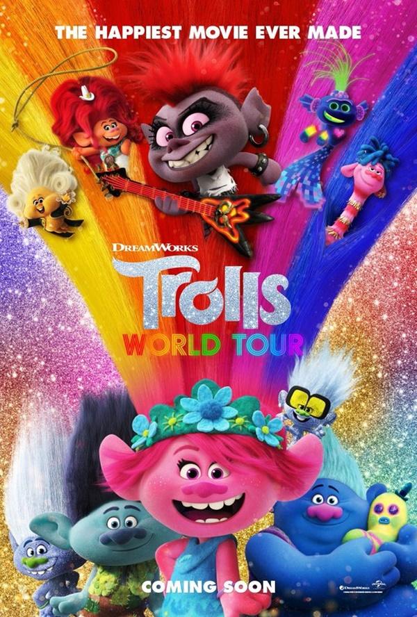 Filem animasi dan Fantasi Trolls World Tour