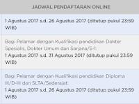 Penerimaan CPNS 2017 Untuk Lulusan SMA dan S1 Tanggal 1 - 31 Agustus 2017