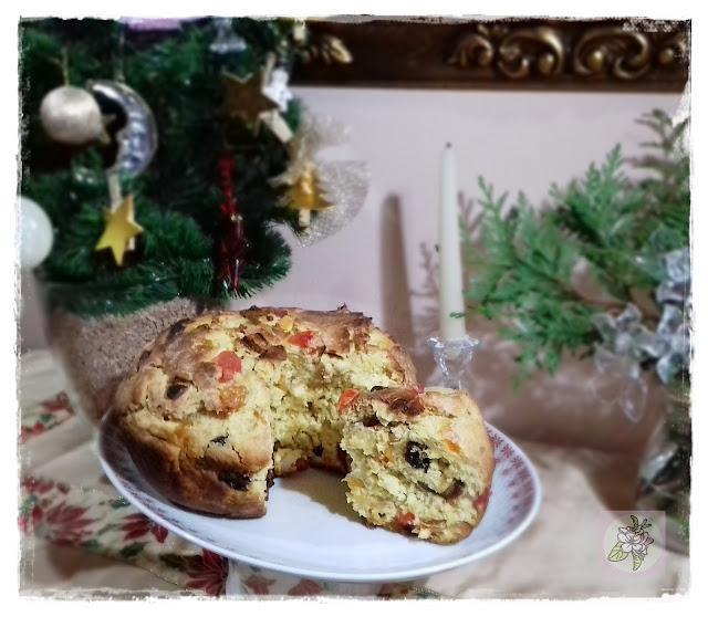 Panetone Vegano  o Pan Dulce de Navidad.