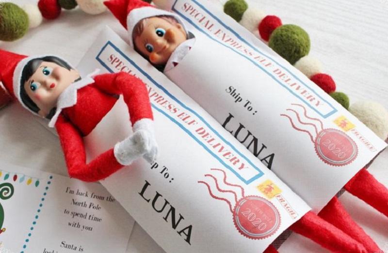 printable elf special delivery envelope