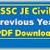 SSC JE Civil Engineering Question Paper PDF Download