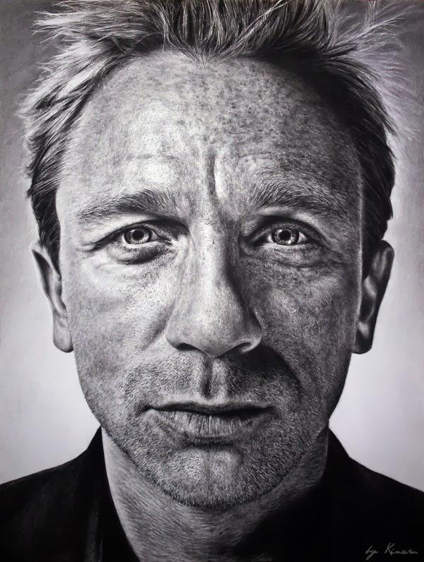 retratos de actores a lápiz.