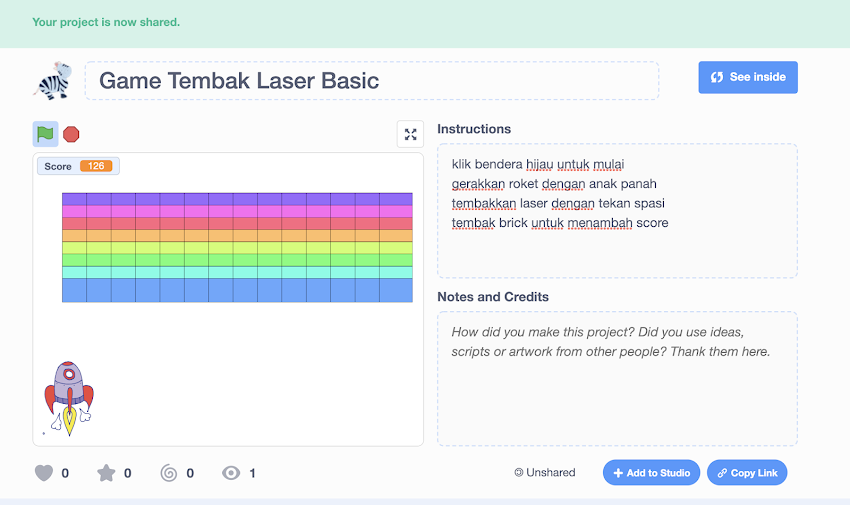 Tutorial Scratch 3.0: Membuat Game Tembak Laser