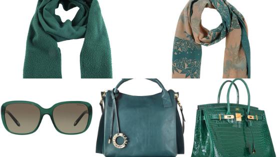 acessorios verde esmeralda