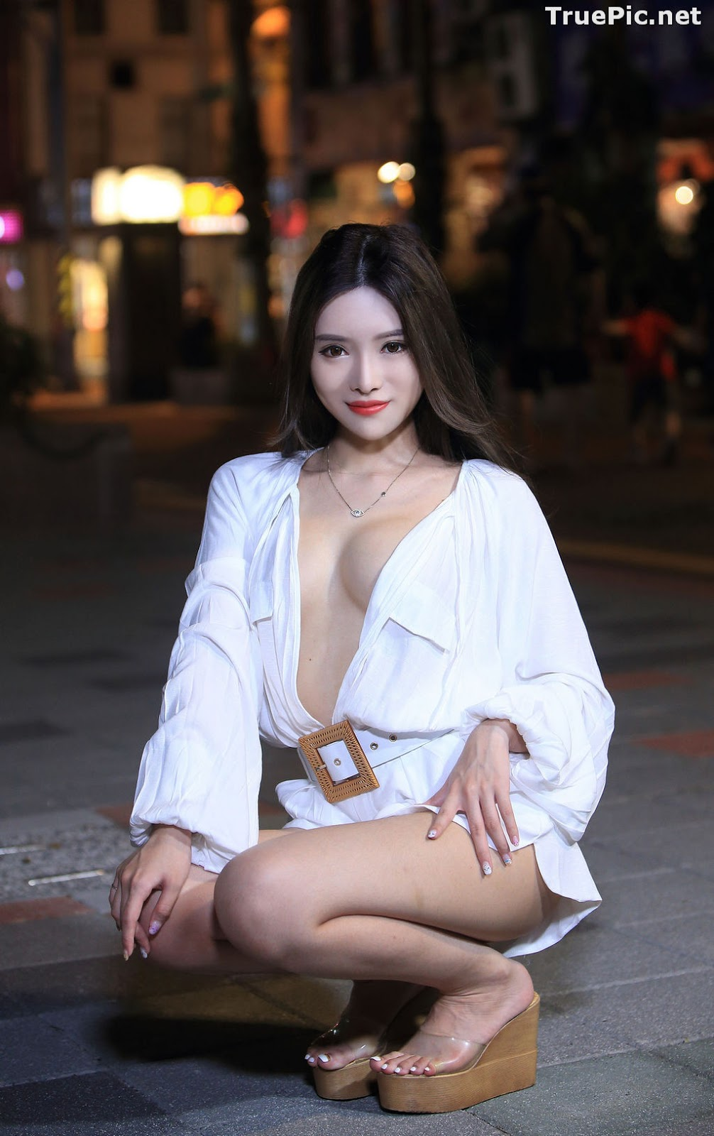 Image Taiwanese Model – 莊舒潔 (ViVi) – Sexy and Pure Baby In Night - TruePic.net - Picture-14