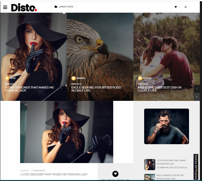 Disto blogger Template FREE Download | Disto Blogger theme Download