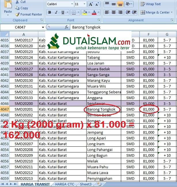 Tarif Ongkos Kirim Jne Dari Jepara Ke Seluruh Indonesia Lengkap Download Excel