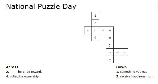 National Puzzle Day Wishes for Whatsapp