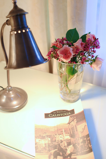 fresh flowers and book
