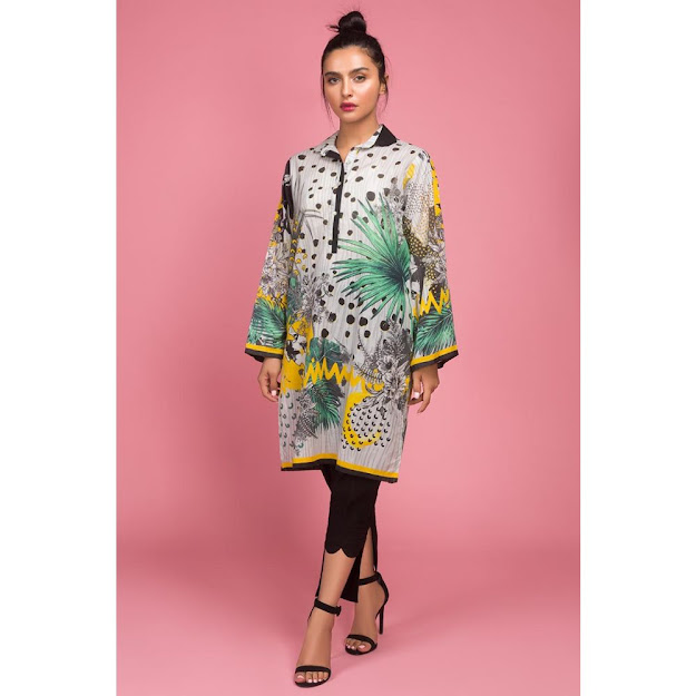 Gul Ahmed ready to wear digital mutli colors collection