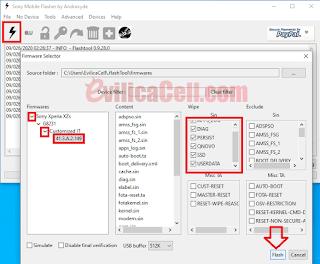 Firmware Sony Xperia XZs G8231 FlashTool