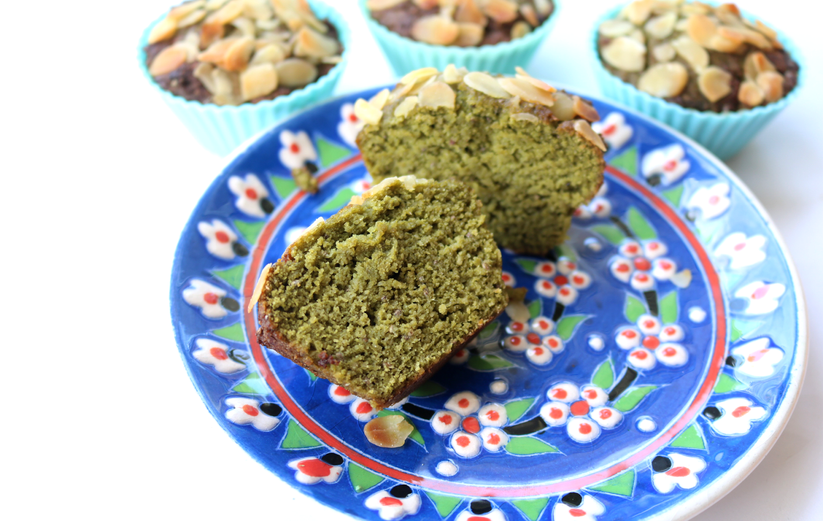 Matcha Green Tea & Lemon Muffins (Dairy-Free / Vegetarian / Gluten-Free recipe)