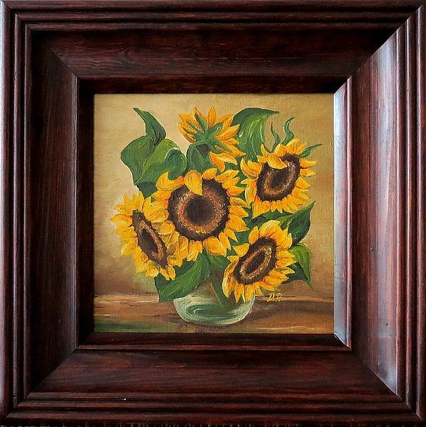 malarstwo obraz olejny słoneczniki