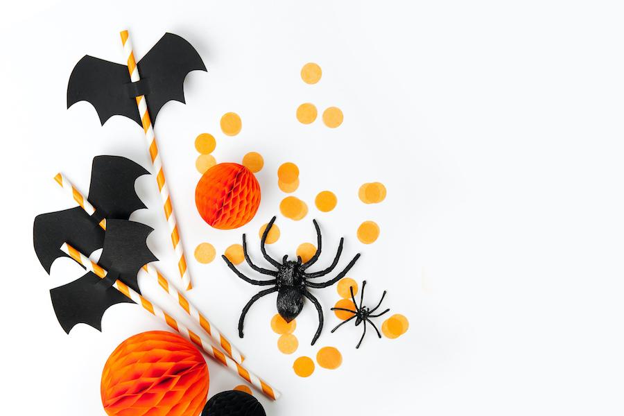 Decoración mesa de halloween con manualidades