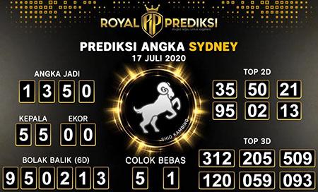 Royal Prediksi Sydney Jumat 17 Juli 2020
