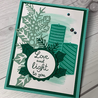 Christmas Card Idea using Stampin' Up! Sweetest Time Stamp Set
