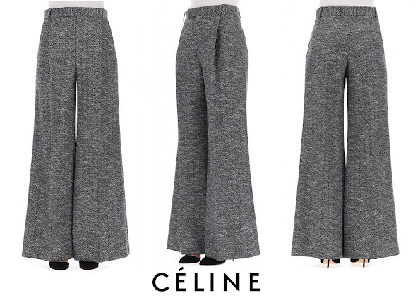 Crown Princess Marie wore Celine Multicolour wool pants