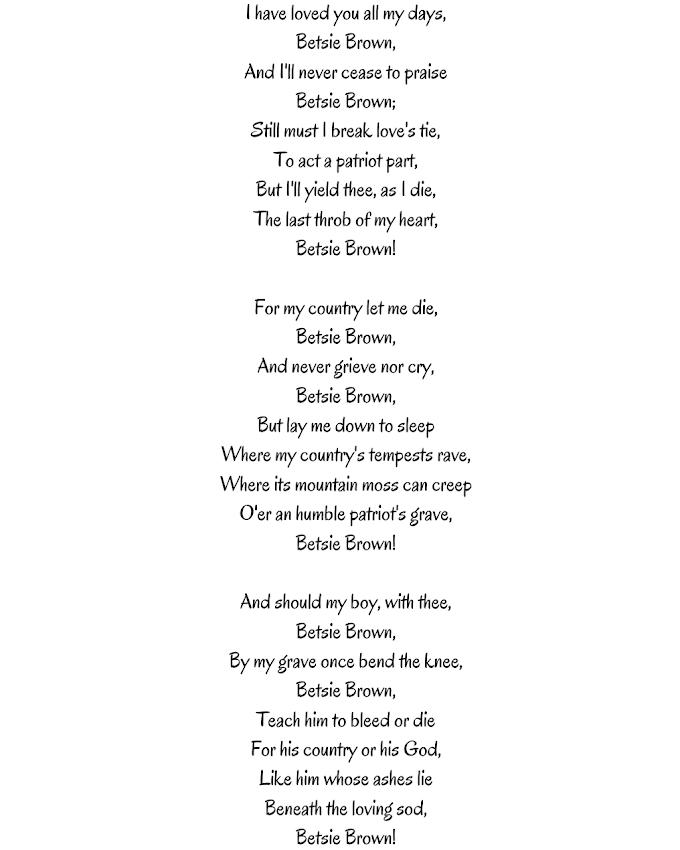 Betsie Brown  By A H Laidlaw