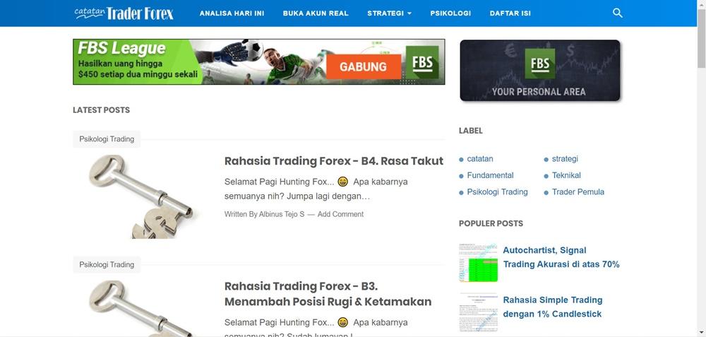 Catatan Trader Forex top
