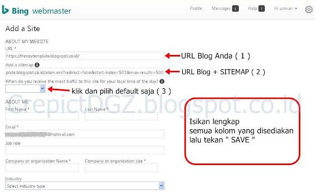 Cara Lengkap Daftar dan Submit Blog Ke Bing Webmaster