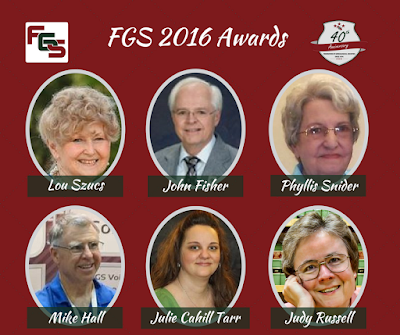 Awards Presented to Deserving Individuals & Organizations at FGS 2016 Conference via FGS.org