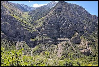 Bridal Veil from Lost Creek Falls Trail Provo