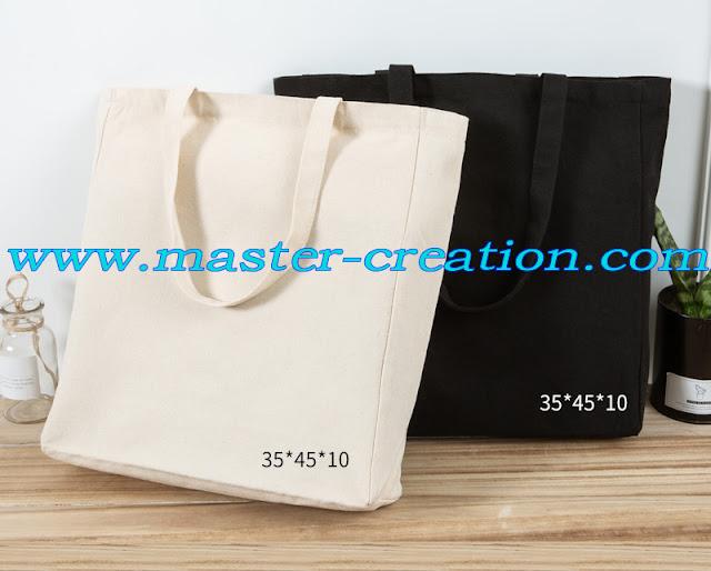 black and white canvas shopper