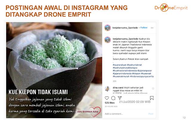 Pakar Drone Emprit Bongkar Akun yang Viralkan 'Klepon Tidak Islami', Bahas Adat Nusantara vs Islam