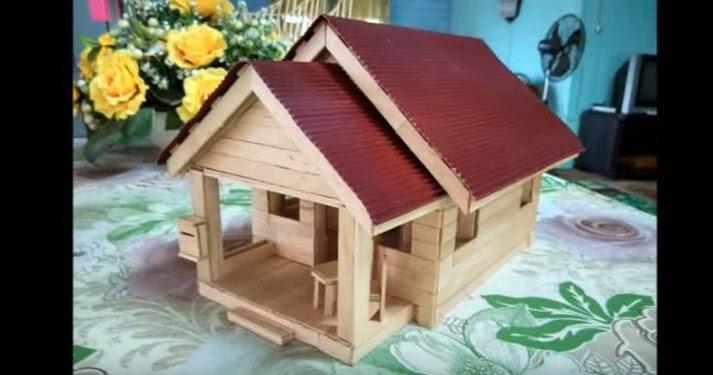 Cara Membuat Miniatur Rumah Dari Stik Es Krim Disertai