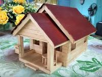 Cara Membuat Miniatur Rumah Dari Stik Es Krim Disertai Gambarnya